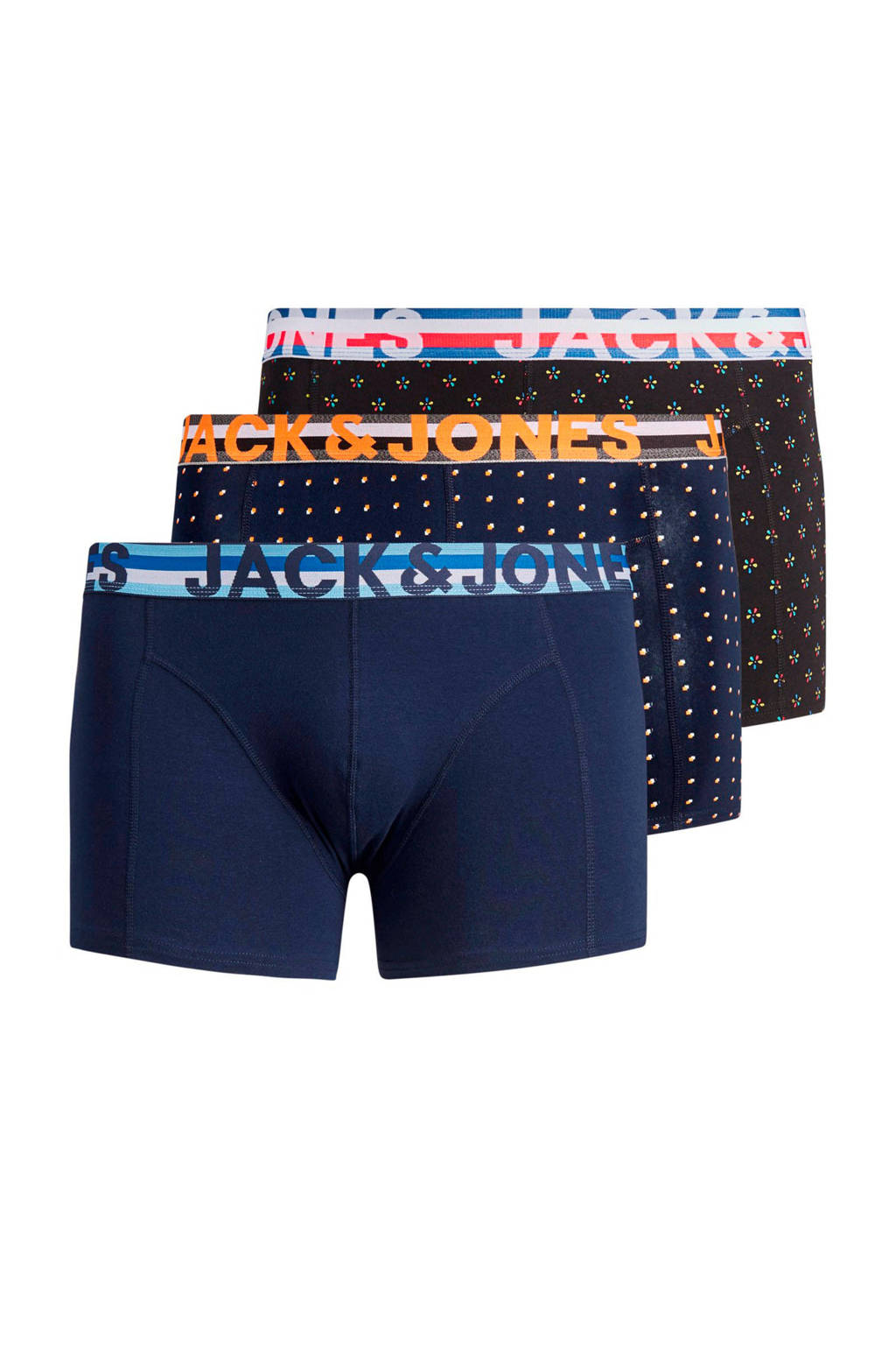 JACK & JONES PLUS SIZE boxershort (set van 3), Marine