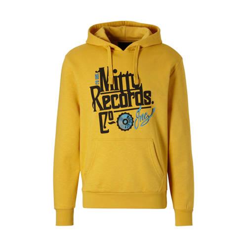 C&A Angelo Litrico hoodie met tekst geel