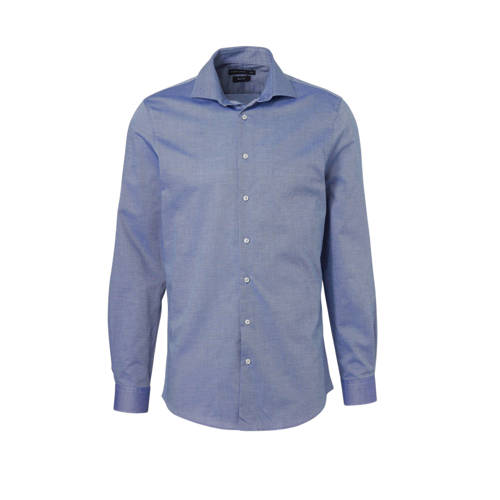 C&A Angelo Litrico slim fit overhemd met print blauw