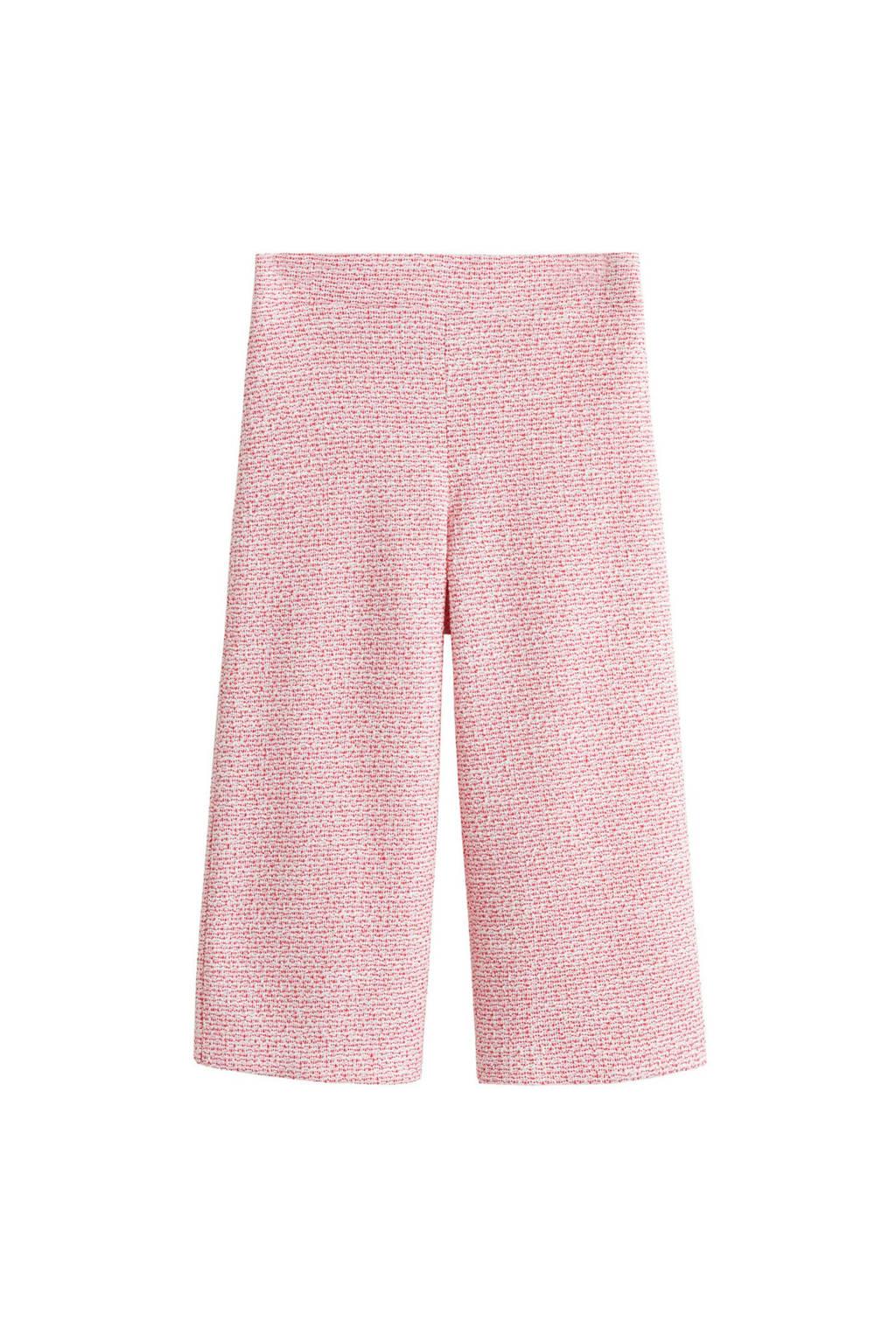 Mango Kids bootcut broek roze, Roze