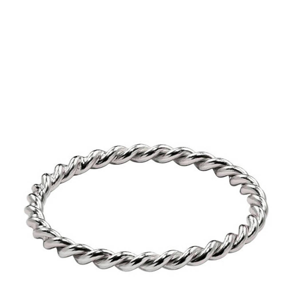 Violet Hamden Twisted Luna Ring VH13002S-52, Zilverkleurig