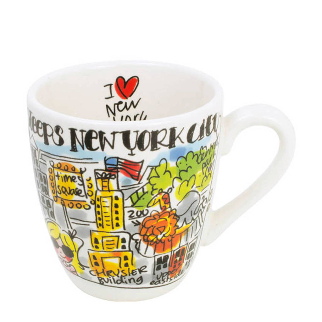 Blond Amsterdam City mini mok New York (Ø8 cm), Multi