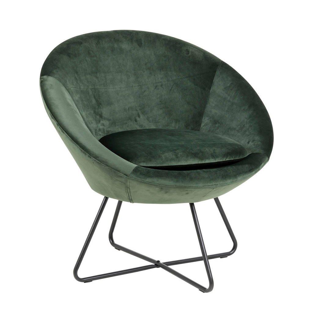 Wehkamp Home fauteuil Curve velours, Groen