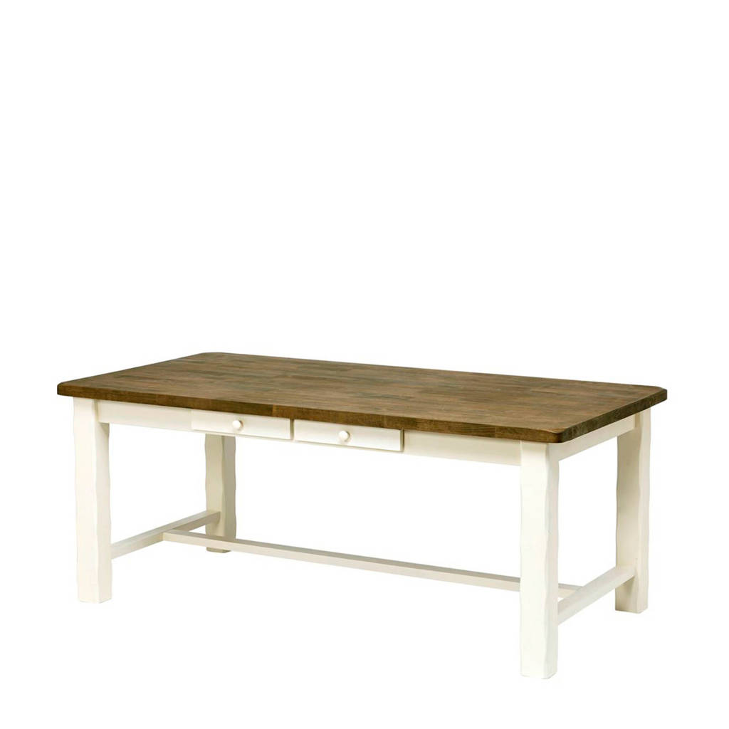 anytime eettafel Marseille 190 cm, wit, hout
