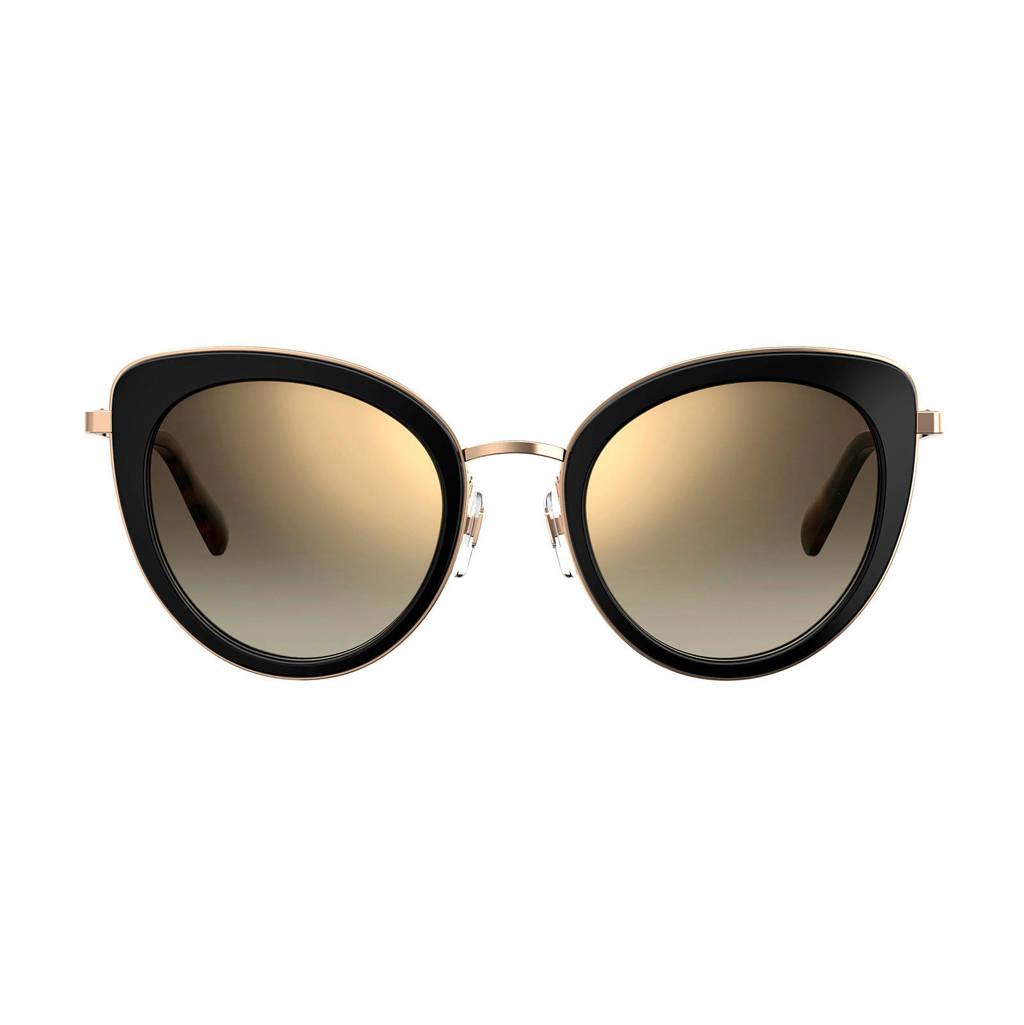 Love Moschino zonnebril MOL006/S BLACK, Zwart/goud