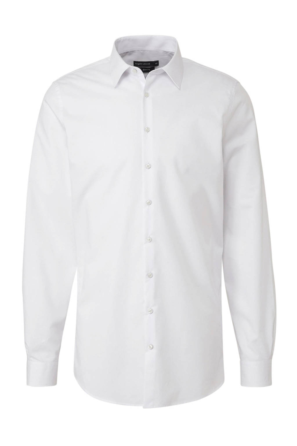 C&A Angelo Litrico slim fit overhemd, Wit