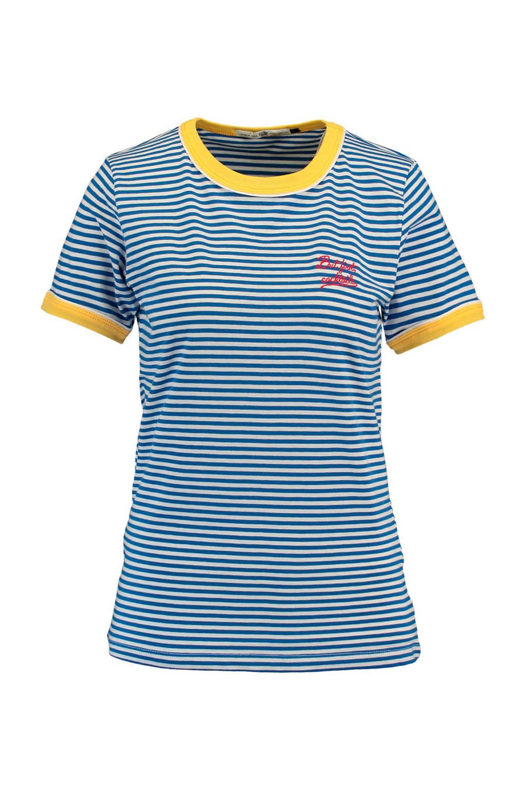 America Today T-shirt Erin, Blauw/wit