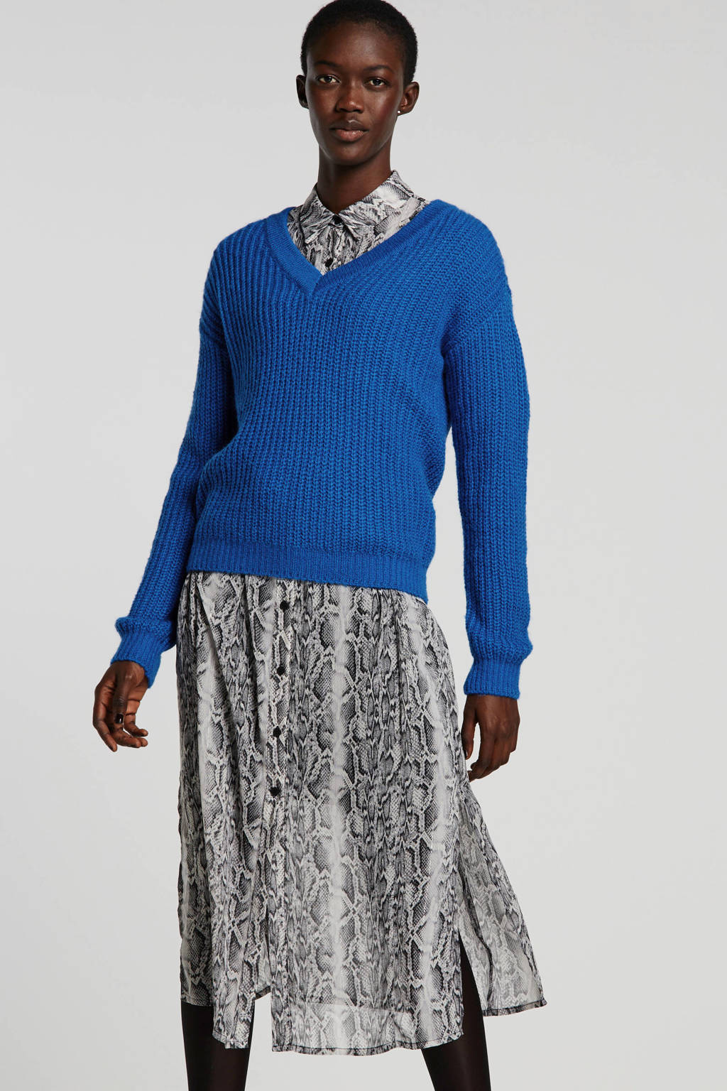anytime trui kobaltblauw, Kobaltblauw