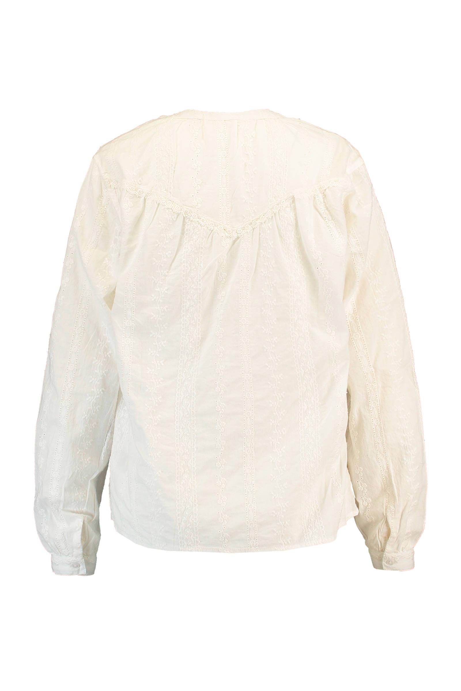 Today America met borduursels blouse wit gebroken xxASrdw