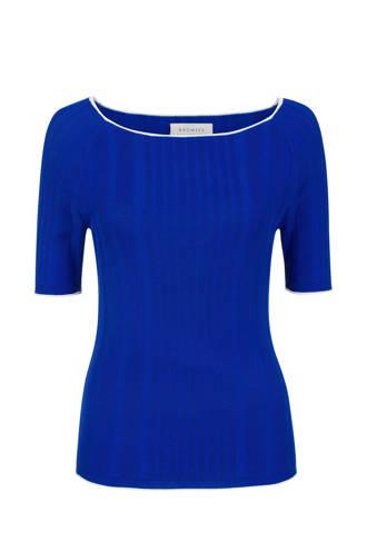 ribgebreide trui kobaltblauw