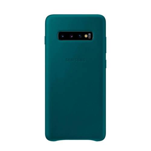 Samsung Galaxy S10+ leren backcover groen kopen
