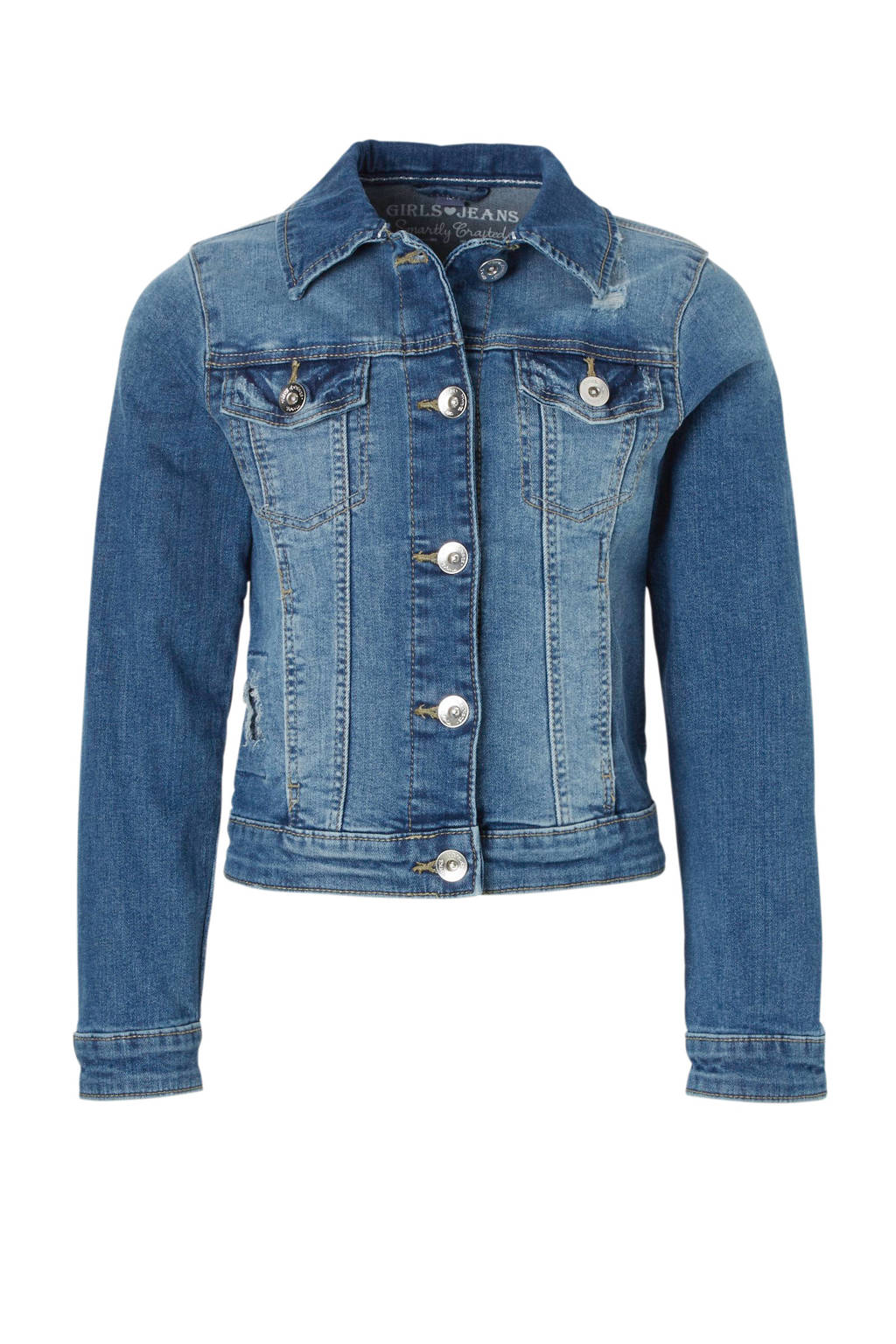 C&A Here & There spijkerjas met pailletten, Stonewashed