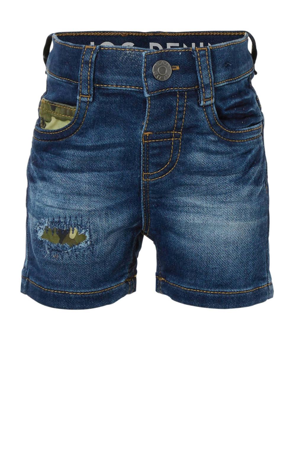 C&A Baby Club jeans bermuda met printopdruk, Dark denim