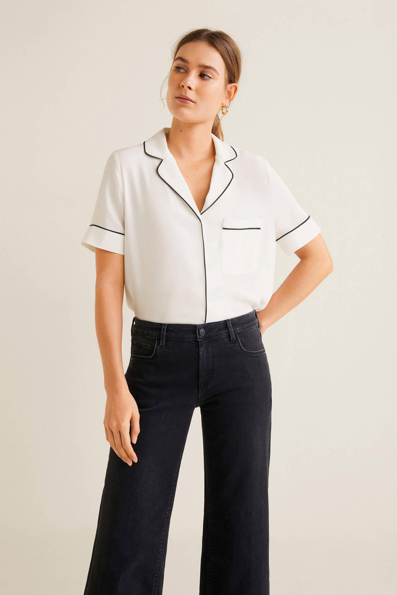 contrastbies blouse Mango met Mango blouse x1vqRx