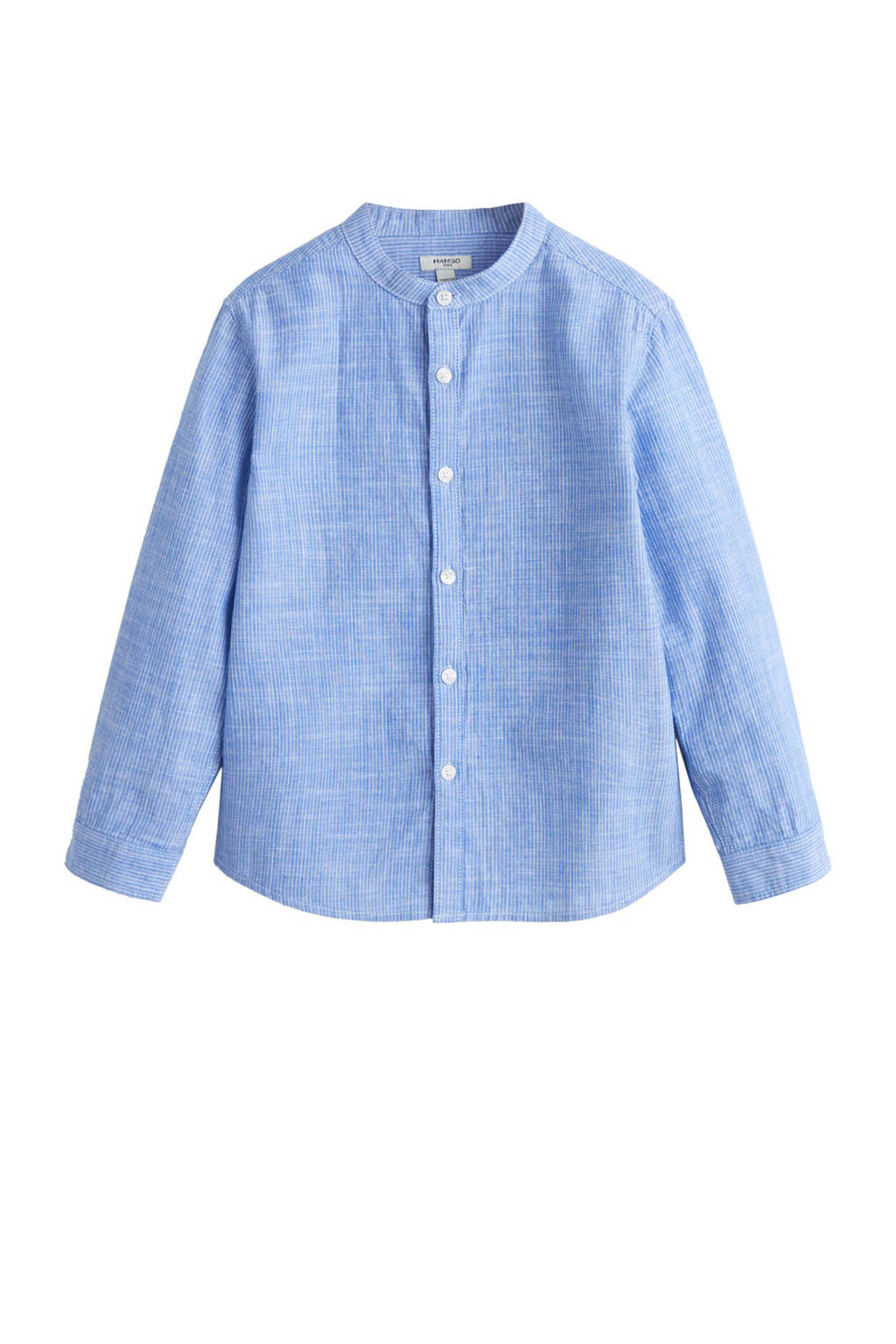 Overhemd Blauw.Mango Kids Gestreept Overhemd Blauw Wehkamp