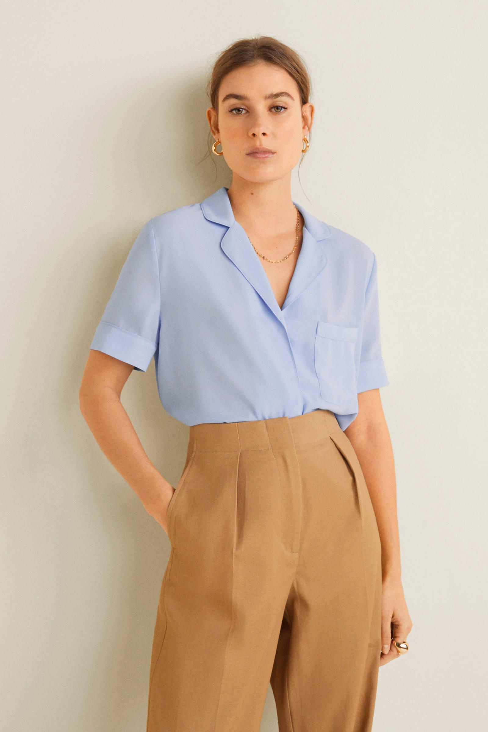 Mango lichtblauw Mango Mango blouse lichtblauw Mango blouse lichtblauw blouse blouse WZwwYURAq
