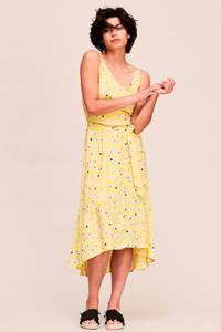 CKS jersey jurk met all over print geel, Geel