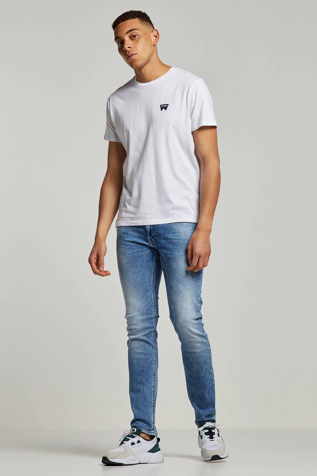 Wrangler T-shirt met logo print wit, Wit