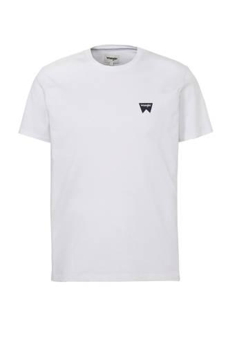 T-shirt met logo print wit