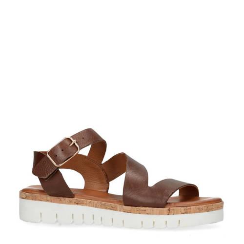 Sacha leren sandalen bruin kopen