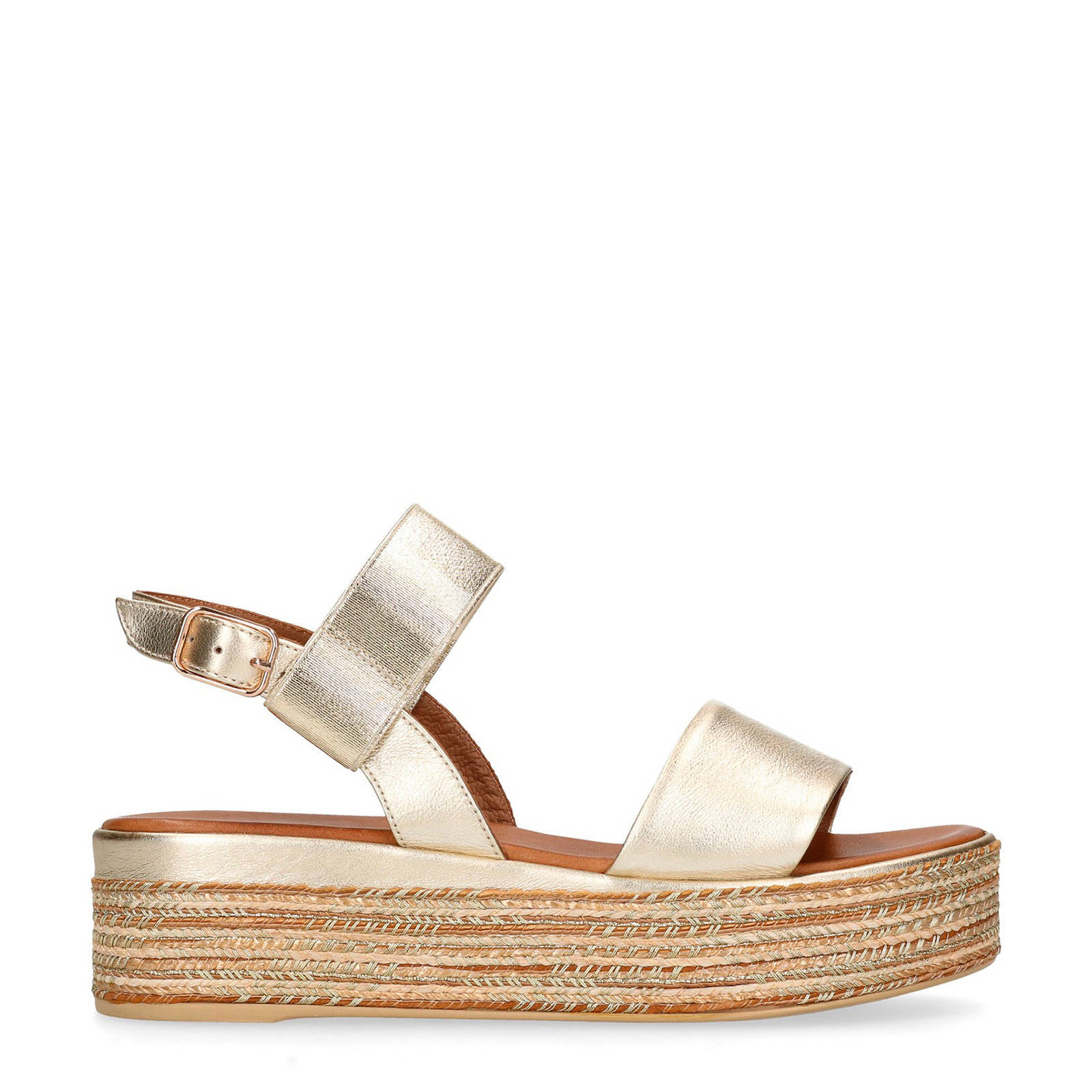 Genieße den niedrigsten Preis um 50 Prozent reduziert neues Konzept leren plateau sandalen goud