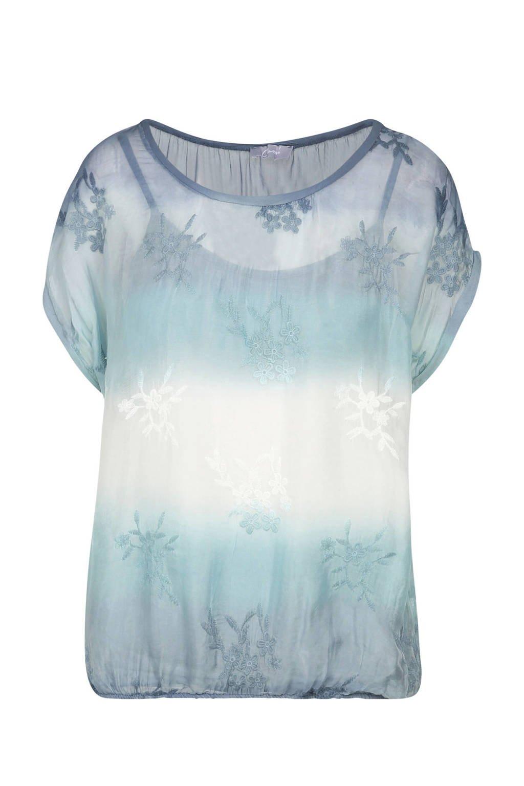 Cassis T-shirt blauw, Blauw