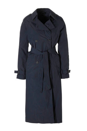 Yessica trenchcoat donkerblauw