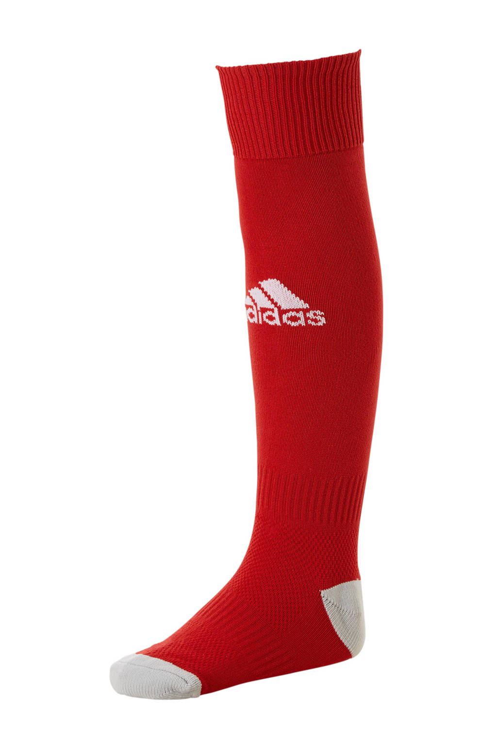 adidas Junior  Milano 16 voetbalsokken rood, Rood/lichtgrijs