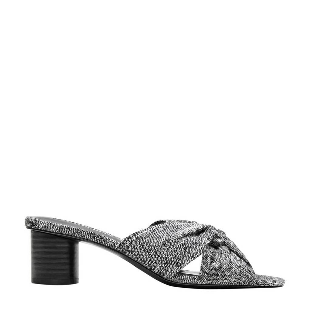 Mango sandalen gemêleerd grijs, Grijs