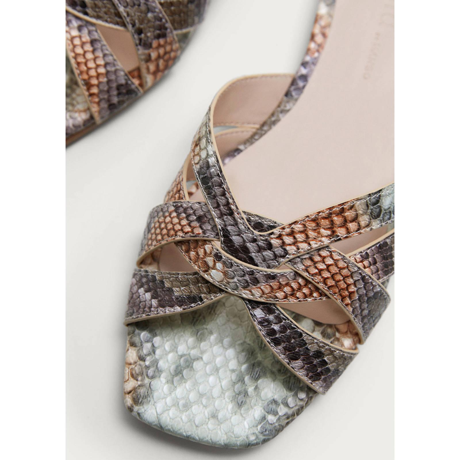 met slangenprint slippers Mango Violeta by I7q1tx4w