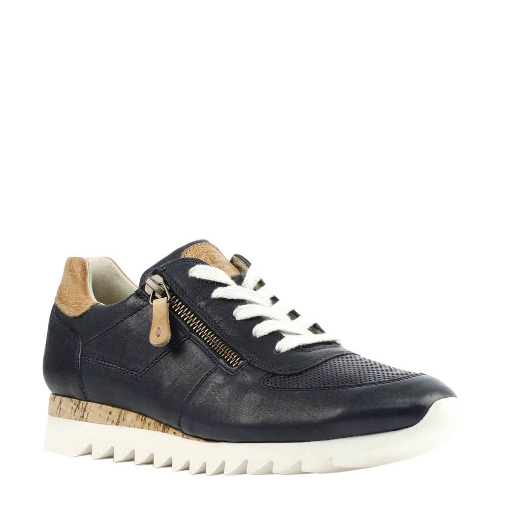 Paul Green  leren sneakers donkerblauw, Blauw