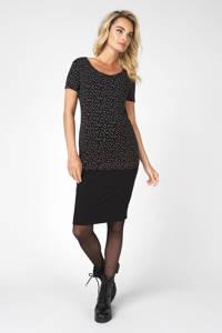 Noppies zwangerschaps T-shirt Rome met stippen zwart, Zwart/wit