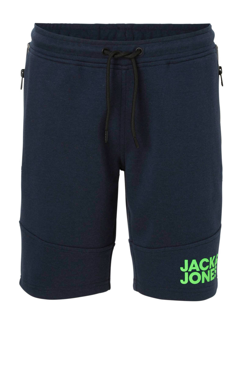 JACK & JONES JUNIOR sweatshort  met ritszakken donkerblauw, Donkerblauw