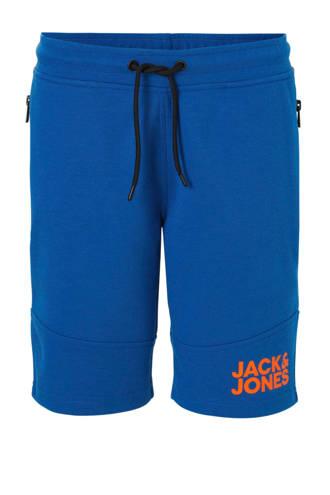 Junior sweatshort  met ritszakken blauw