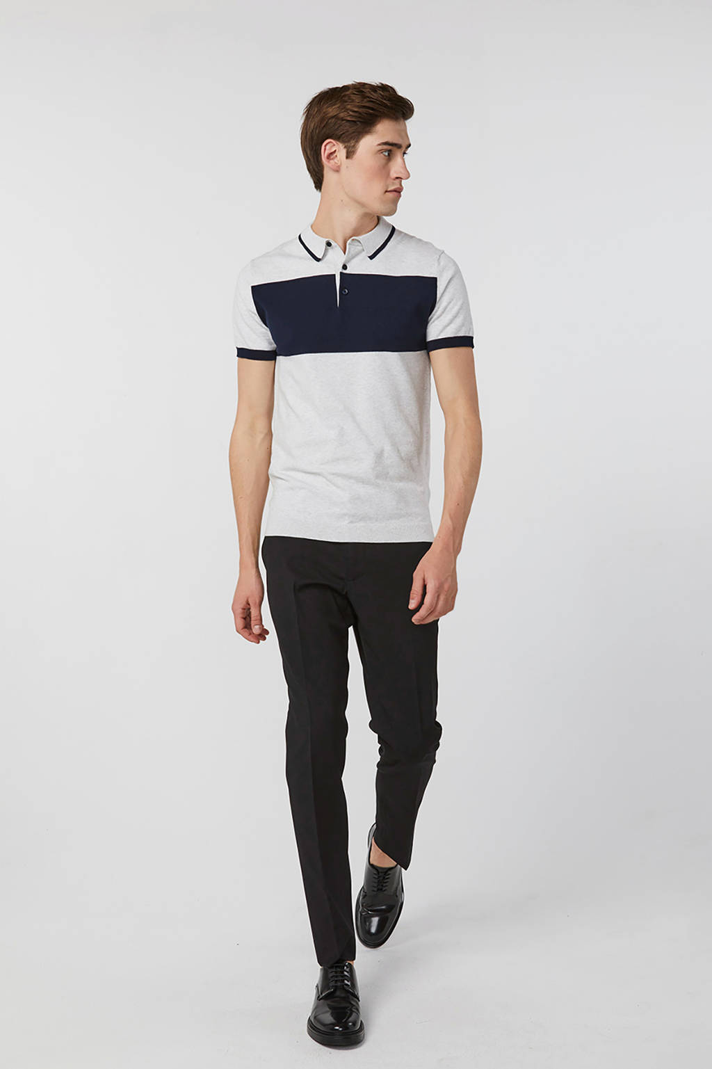 WE Fashion slim fit polo wit, Wit