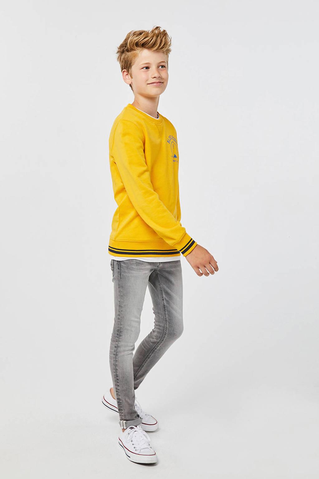 WE Fashion Blue Ridge skinny jeans Tumo Salt, Grijs