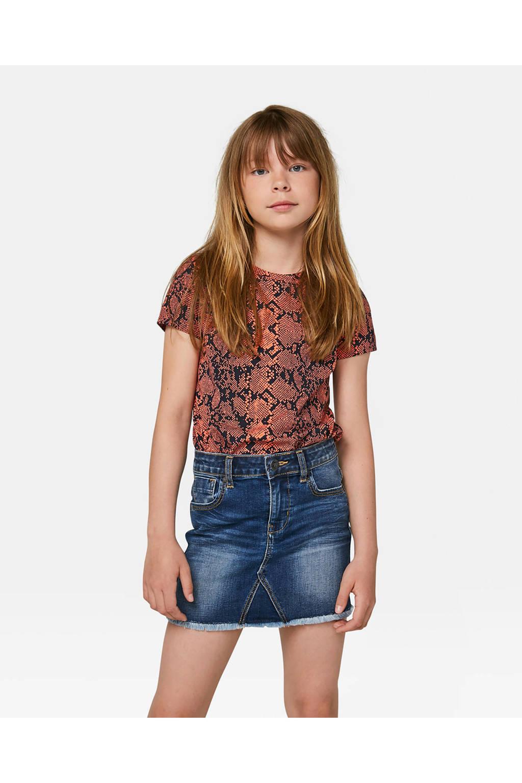 WE Fashion Blue Ridge spijkerrok, Dark denim