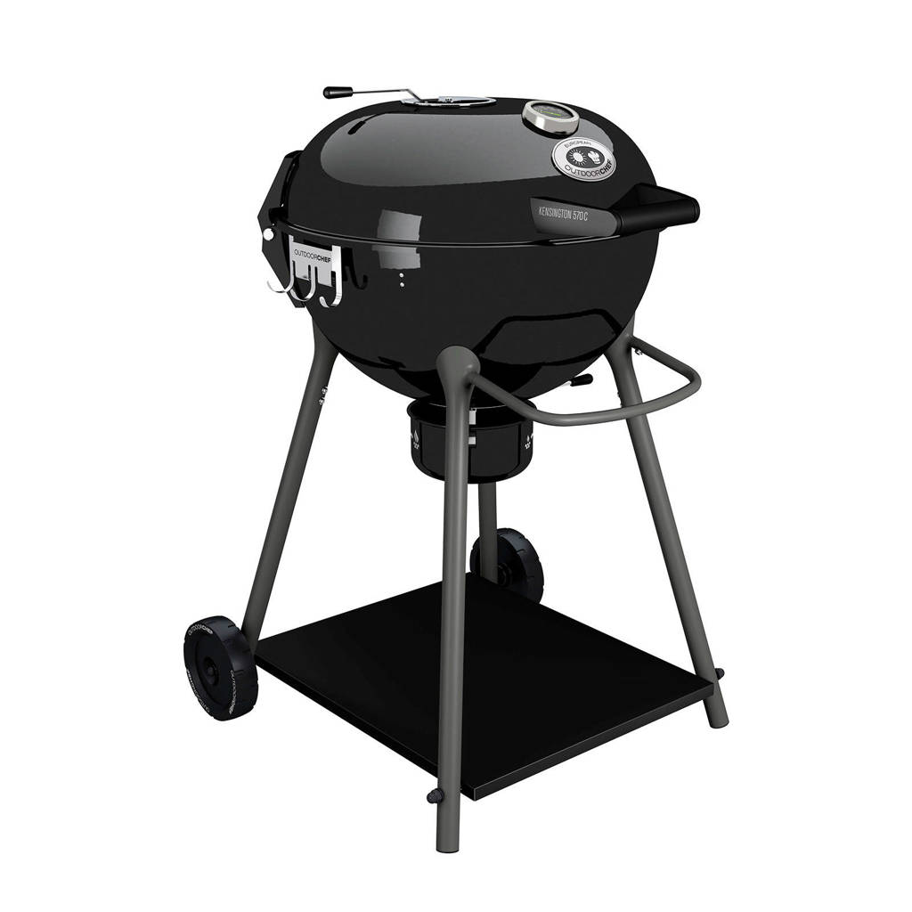 Outdoorchef Kensington 570 C houtskool barbecue, Zwart
