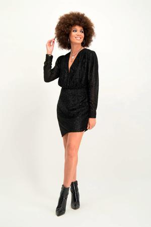 jurk Rebel met glitters zwart