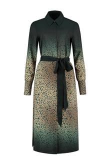 jurk met panterprint zand