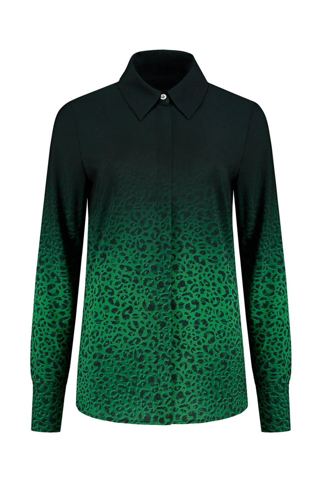 c34f3f4eae8 blouse met panterprint groen/zwart