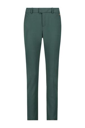 straight fit pantalon Perle donkergroen
