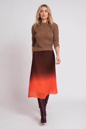 dip-dye rok donkerpaars/rood