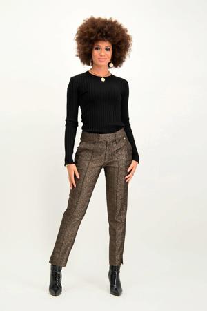 straight fit pantalon Poppy goud
