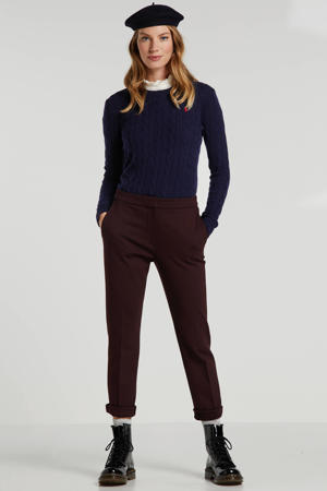 slim fit pantalon Essi bordeaux