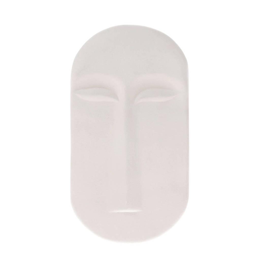 HKliving wandornament masker (23,5x13 cm), Wit