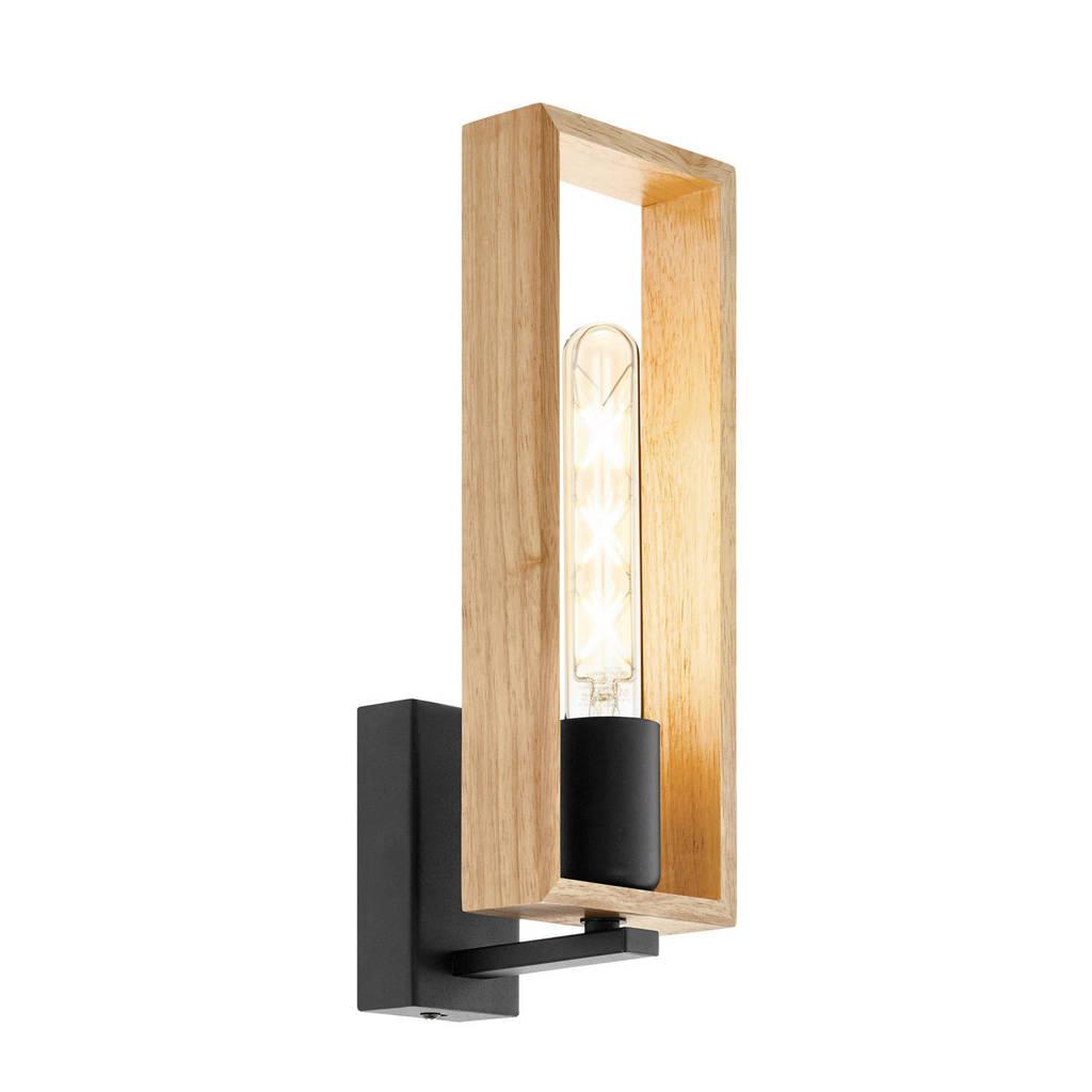 EGLO wandlamp Littleton, Zwart/bruin