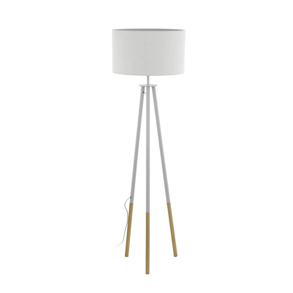 EGLO vloerlamp, Wit/hout
