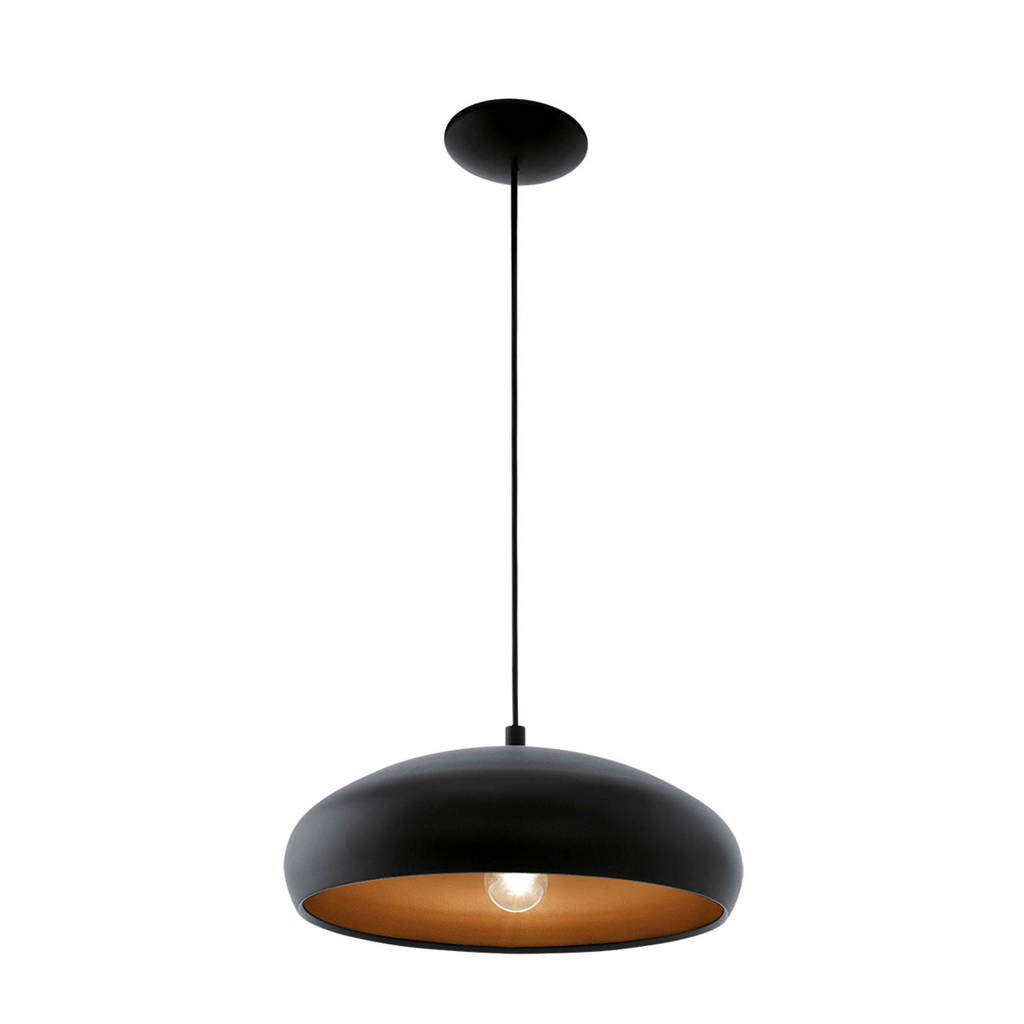 EGLO hanglamp Mogano 1, Zwart/koper