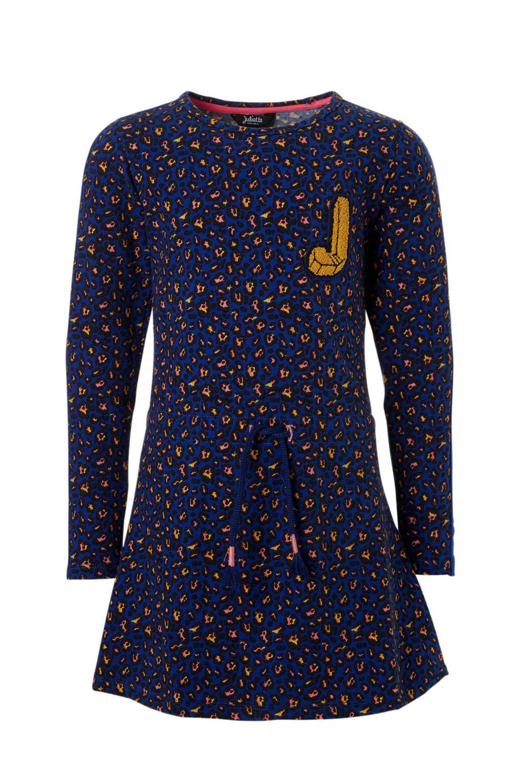 1cda41163fae2e Little Miss Juliette jurk met panterprint blauw
